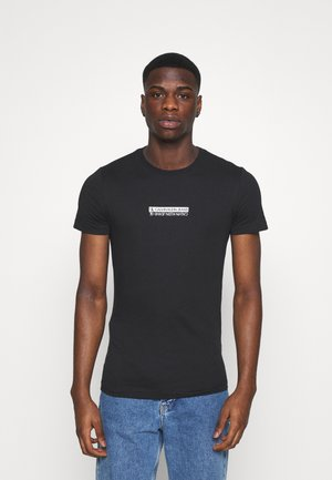 MIRROR LOGO SLIM FIT TEE - Print T-shirt - black