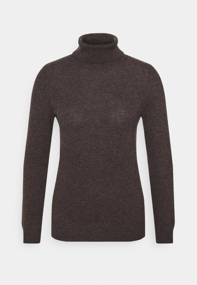 TURTLENECK - Jumper - dark brown