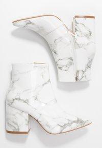 RAID - KOLAH - Ankle boots - white marble - 3