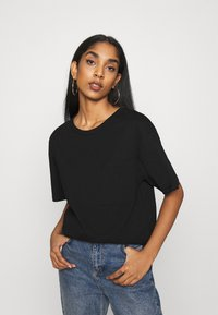 Even&Odd - Basic T-shirt - black - 0