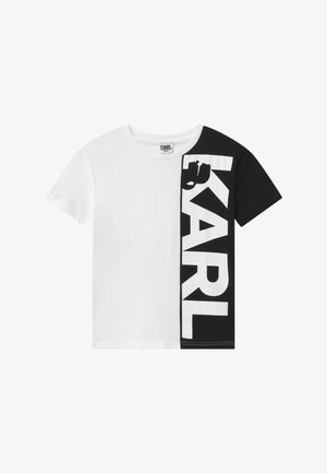 SHORT SLEEVES TEE - T-shirt z nadrukiem - white/black