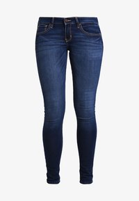 Hollister Co. - LOW RISE MEDIUM SUPER SKINNY - Skinny džíny - blue denim - 5