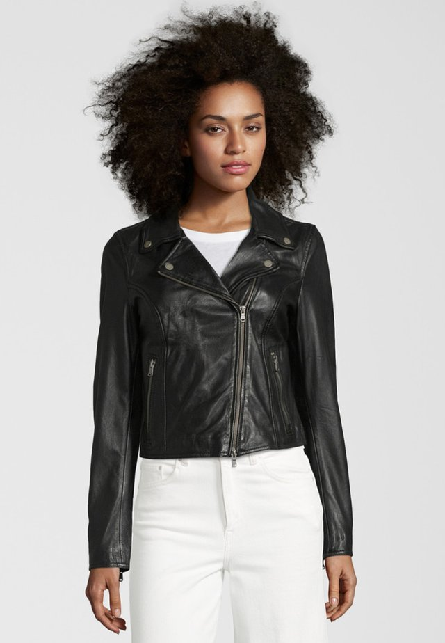 BALI - Leather jacket - black