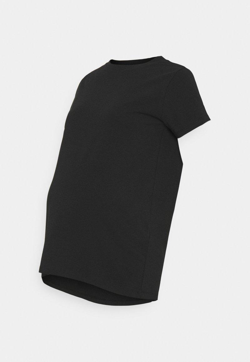 MAMALICIOUS - MLSIA BOXY - Basic T-shirt - black
