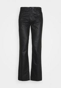 Trussardi - FIVE POCKET COATED - Straight leg jeans - black - 0
