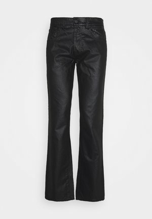 FIVE POCKET COATED - Džíny Straight Fit - black