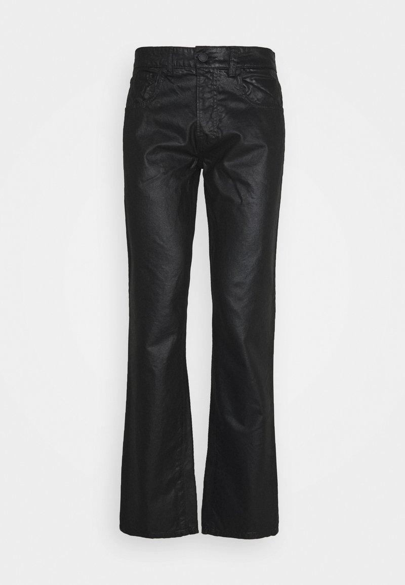 Trussardi - FIVE POCKET COATED - Straight leg jeans - black