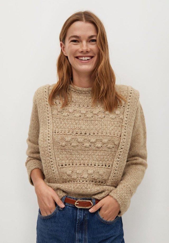 Pullover - halvbrun