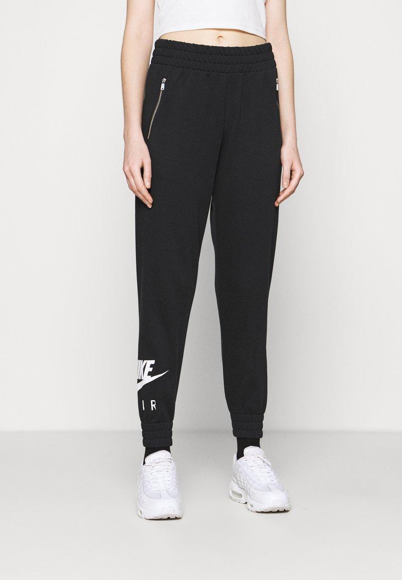 Nike Sportswear - AIR PANT   - Tracksuit bottoms - black/white