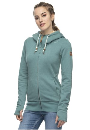 LIBERTY  - Zip-up hoodie - dusty green