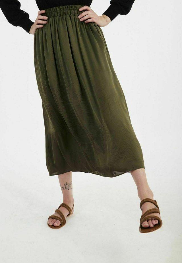 SATEENE  - Jupe trapèze - green