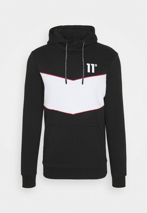 Hoodie - black / white / goji berry red