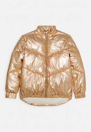 JUNIOR HIGH LOW PADDED - Winter jacket - light copper multi