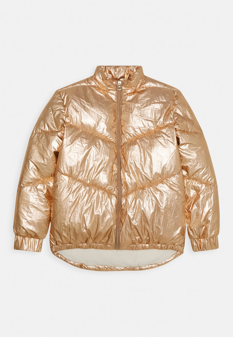 Guess - JUNIOR HIGH LOW PADDED - Zimní bunda - light copper multi