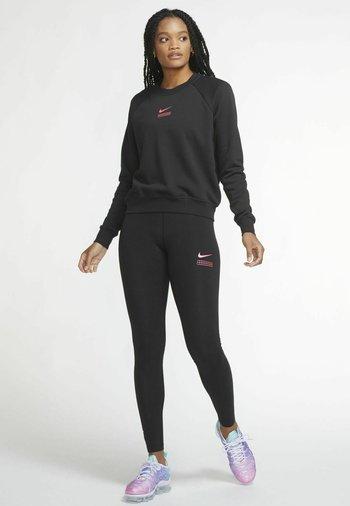 Sweatshirt - black/hyper pink