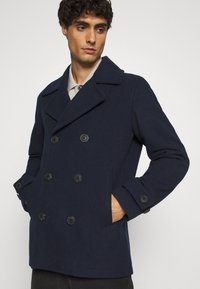 Selected Homme - SLHSUSTAINABLE ICONICS PEACOAT  - Classic coat - sky captain - 3