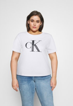 BONDED FILLED TEE - Print T-shirt - bright white
