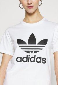 adidas Originals - TREFOIL TEE - Print T-shirt - white - 5