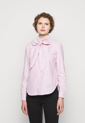 OXFORD - Button-down blouse - pink/navy