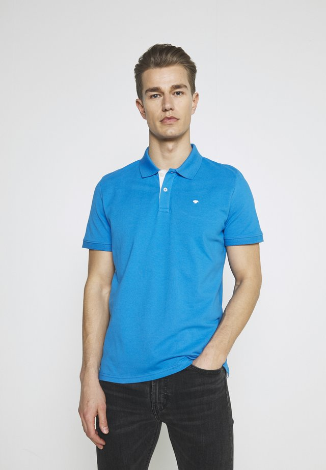BASIC WITH CONTRAST - Poloskjorter - bright ibiza blue