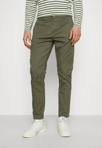 Lindbergh - PANTS - Cargo trousers - army - 0