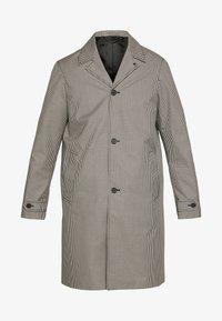 TARTAN COAT - Classic coat - black/ecru