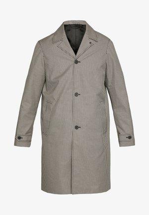 TARTAN COAT - Zimní kabát - black/ecru