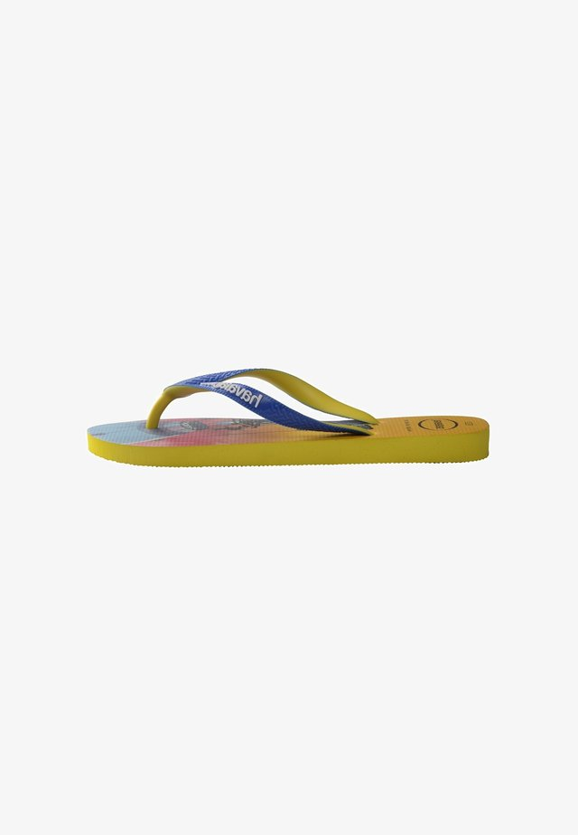 TOP FORTNITE - Teenslippers - yellow, blue