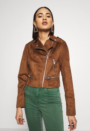 GRAMMY - Faux leather jacket - caramel