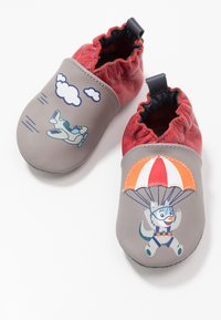 Robeez - HAPPY WOLF - First shoes - gris/rouge - 6