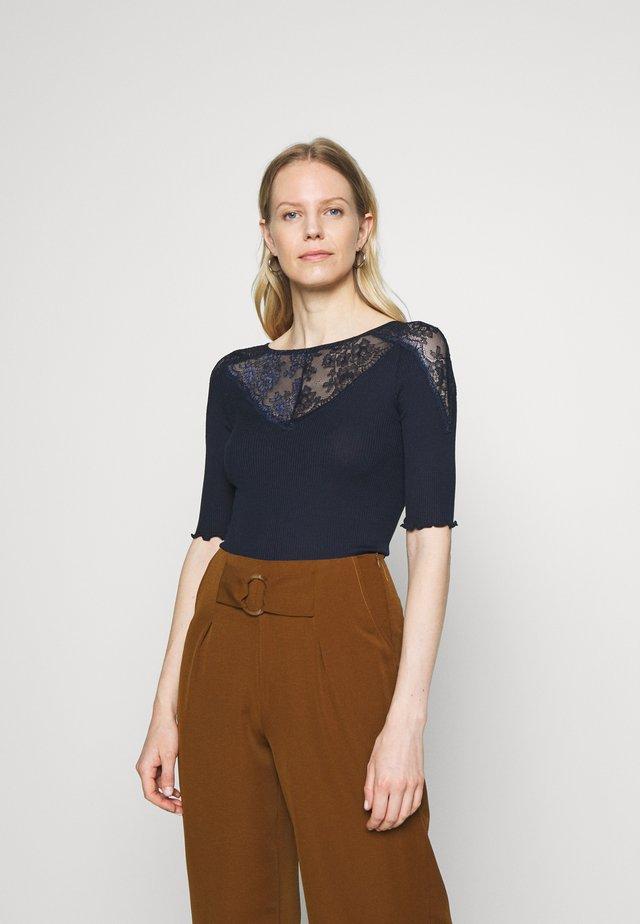 REGULAR - T-shirt print - navy