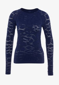 Casall - CASALL SEAMLESS STRUCTURE LONG SLEEVE - Långärmad tröja - pushing blue - 3