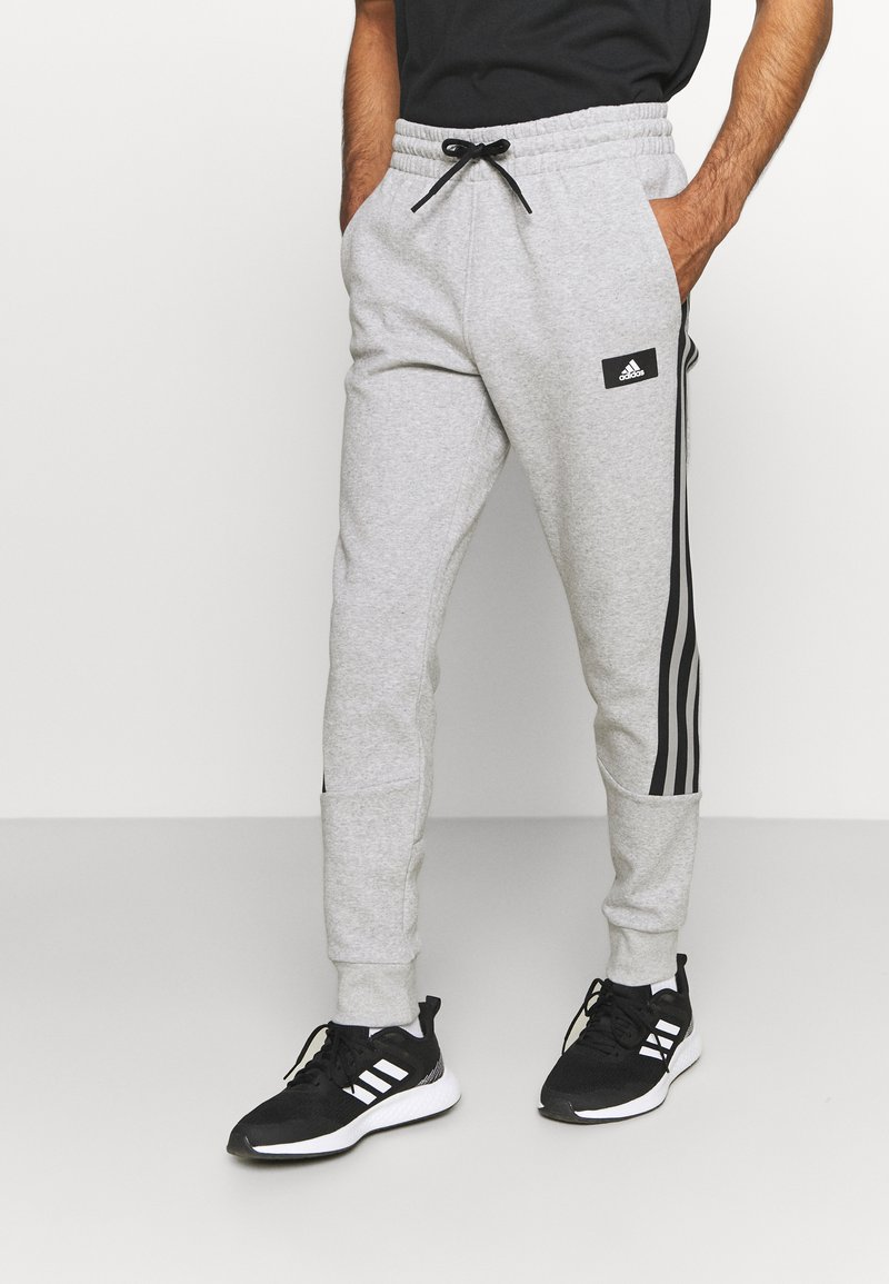 adidas Performance - 3 STRIPES FUTURE - Tracksuit bottoms - medium grey heather