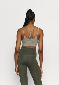 Nike Performance - INDY YOGA BRA - Light support sports bra - light army/light army/stone - 2