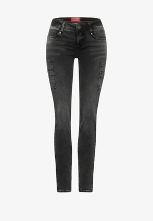 Slim fit jeans - black random bleach
