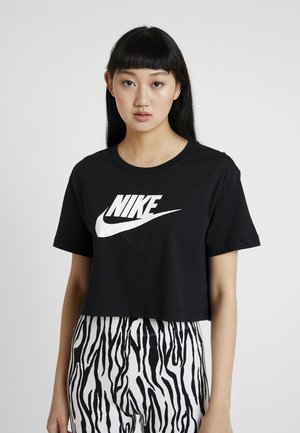 TEE - T-shirt med print - black/white