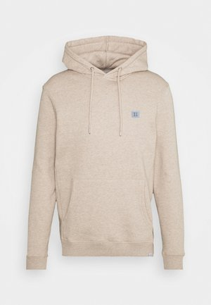 PIECE HOODIE - Luvtröja - light brown melange