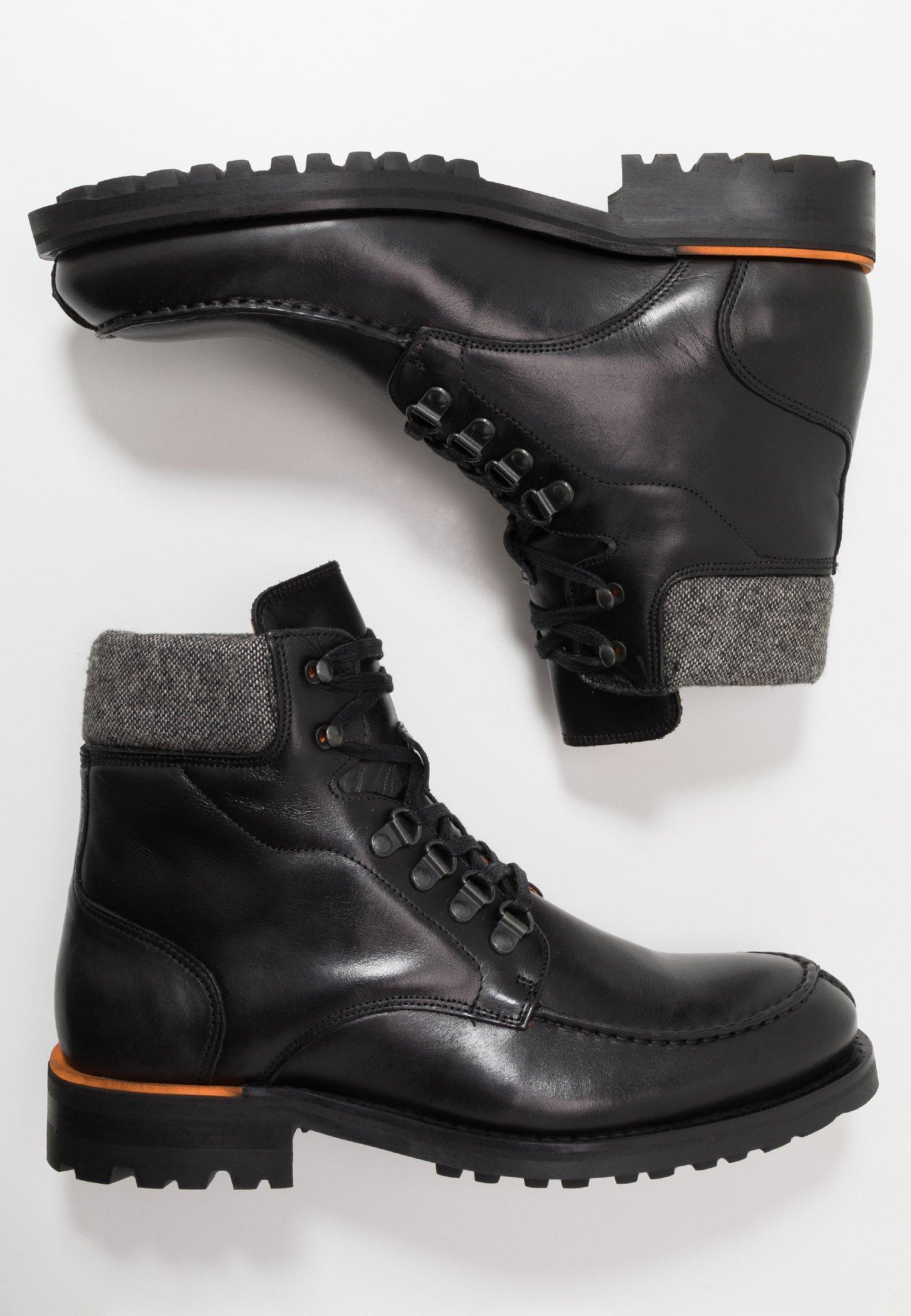 Bianco Biacarney Tweed Boot - Snørestøvletter Black