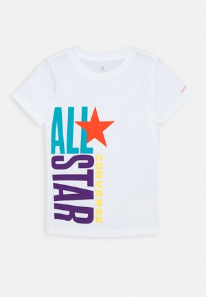 ALL STAR STACKED TEE - T-shirt print - white