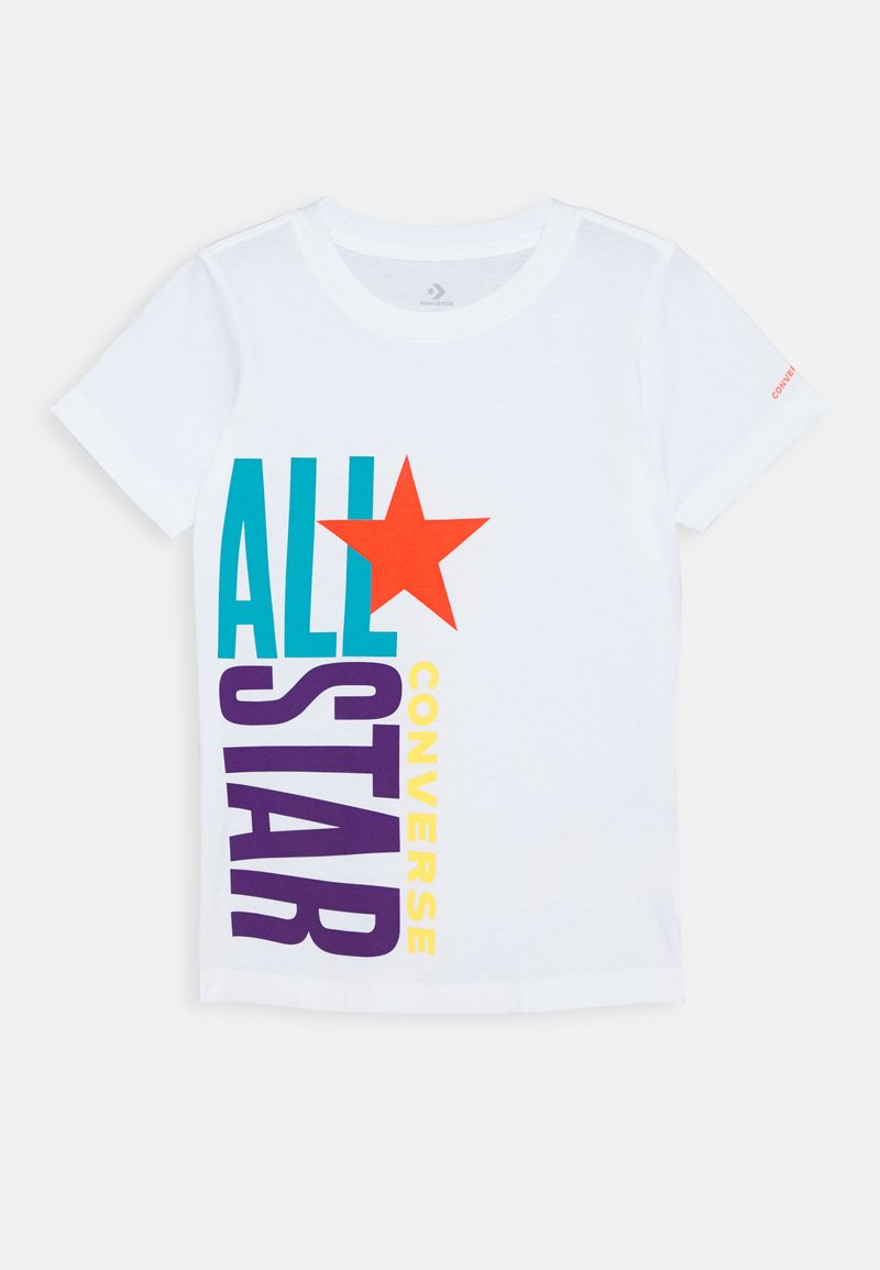 Converse - ALL STAR STACKED TEE - Print T-shirt - white