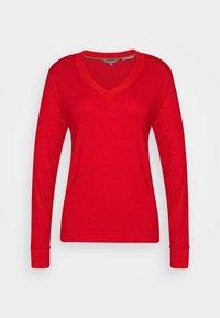 V-NECK - Bluzka z długim rękawem - molten lava red