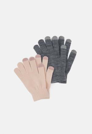 2 PACK - Gloves - light pink/grey