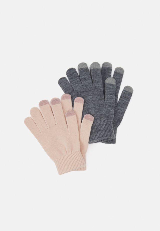 2 PACK - Gloves - light pink/grey