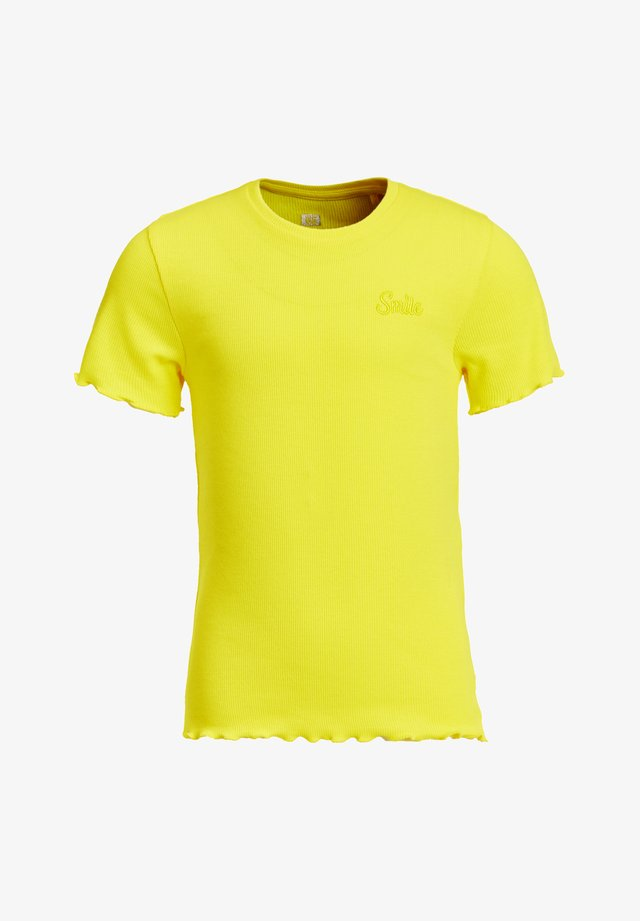 SLIM FIT  - T-shirt basic - bright yellow