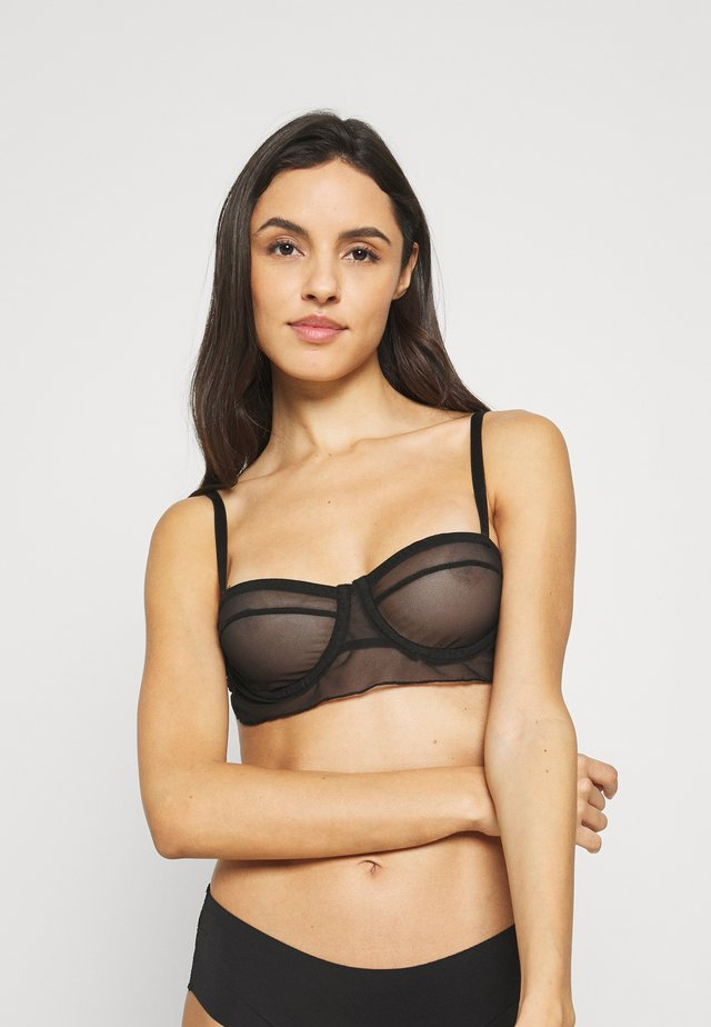 MOSS BRA - Underwired bra - black caviar