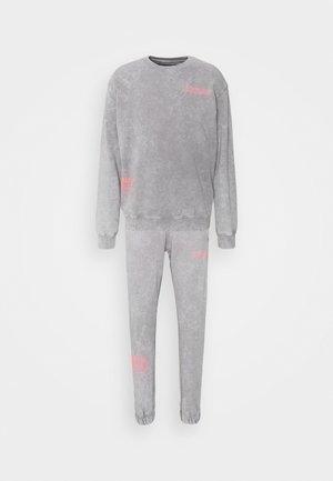 WASHED TRACKSUIT - Zip-up sweatshirt - grey