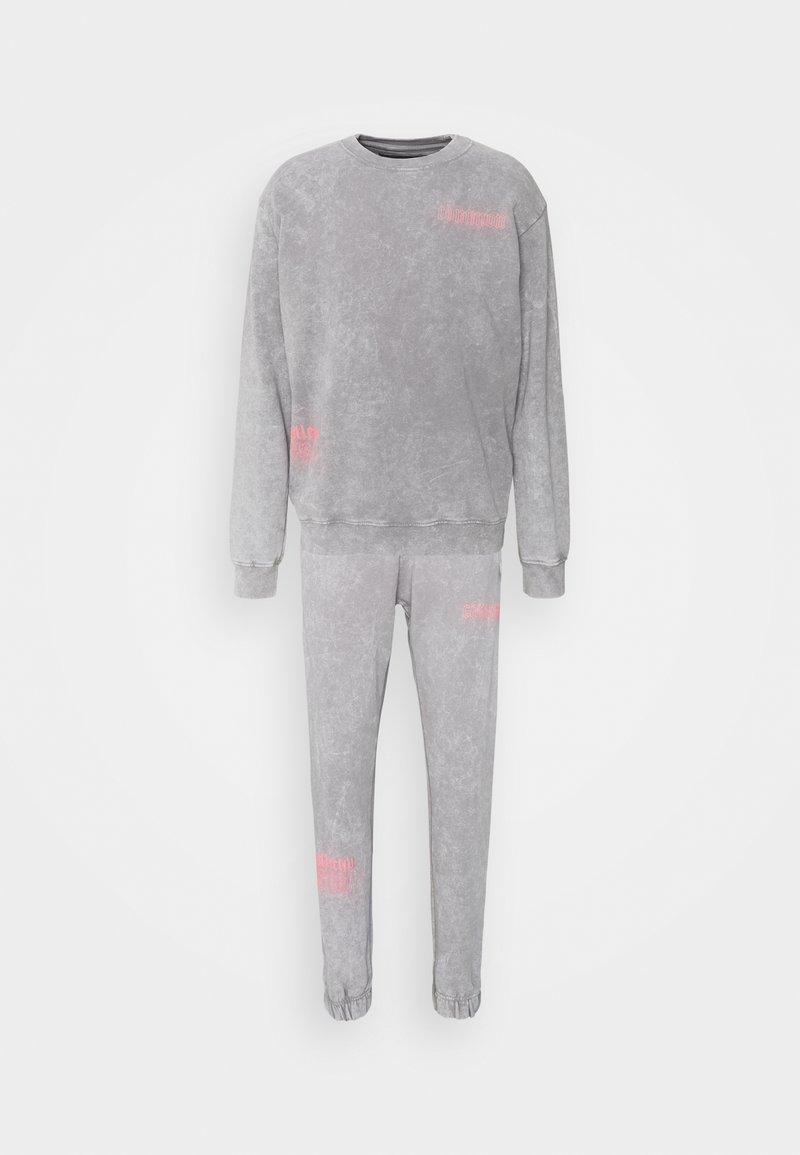Common Kollectiv - WASHED TRACKSUIT - Zip-up sweatshirt - grey