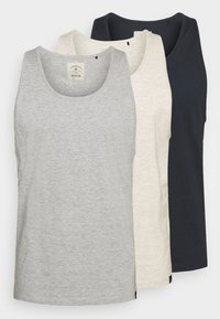 off white/navy/grey