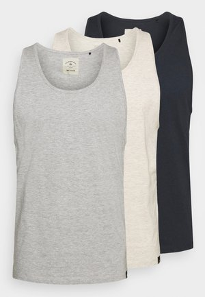 VEST 3 PACK - Top - off white/navy/grey