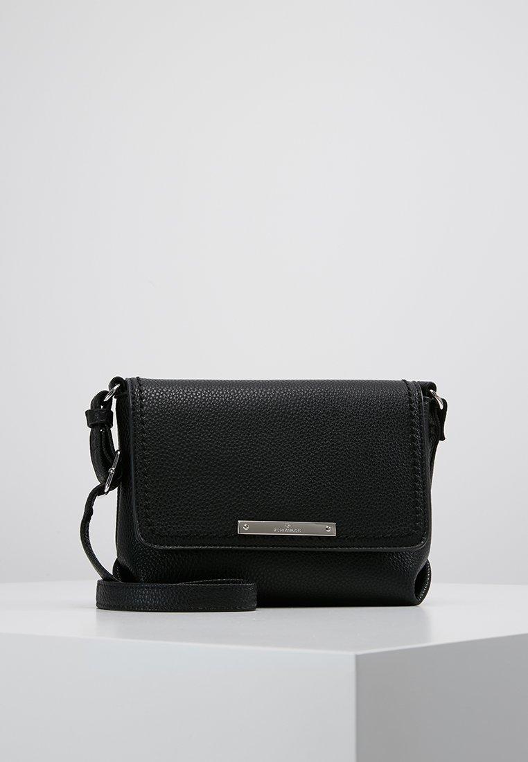 TOM TAILOR - LOU FLAPBAG - Across body bag - black